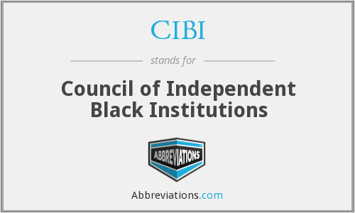 What does CIBI stand for?