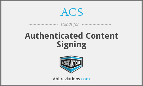 ACS - Authenticated Content Signing