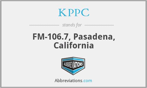 KPPC - FM-106.7, Pasadena, California