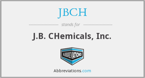 JBCH - J.B. CHemicals, Inc.