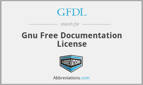 GFDL - Gnu Free Documentation License