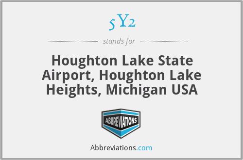 5Y2 - Houghton Lake State Airport, Houghton Lake Heights, Michigan USA