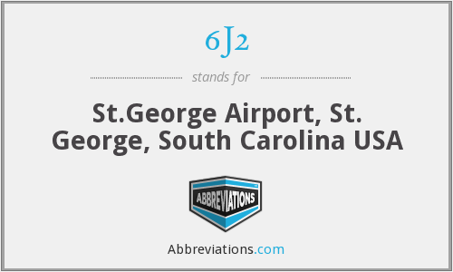 6J2 - St.George Airport, St. George, South Carolina USA