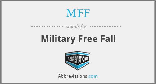 MFF - Military Free Fall