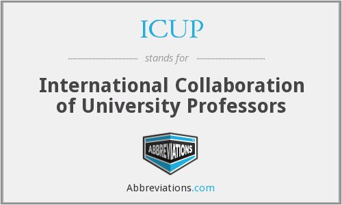 What does ICUP stand for?