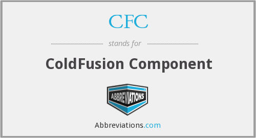 CFC - ColdFusion Component