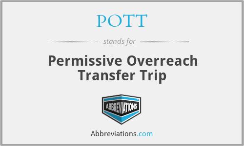 POTT - Permissive Overreach Transfer Trip