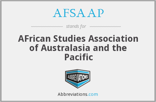 AFSAAP - AFrican Studies Association of Australasia and the Pacific