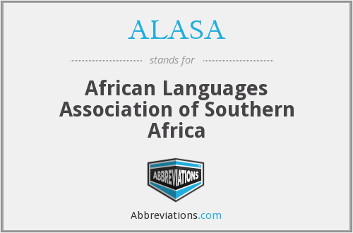 ALASA - African Languages Association of Southern Africa