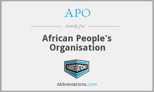 APO - African People's Organisation