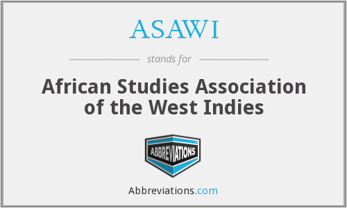 ASAWI - African Studies Association of the West Indies
