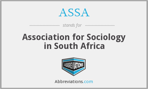 ASSA - Association for Sociology in South Africa