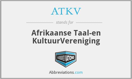 ATKV - Afrikaanse Taal-en KultuurVereniging