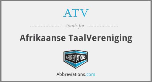 ATV - Afrikaanse TaalVereniging