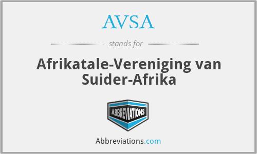AVSA - Afrikatale-Vereniging van Suider-Afrika