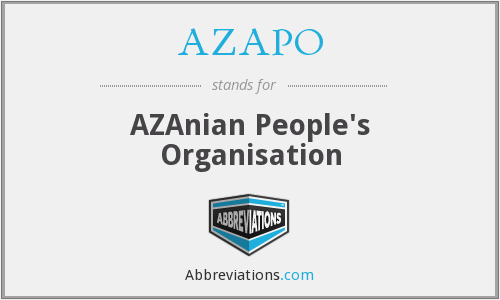 What does AZAPO stand for?