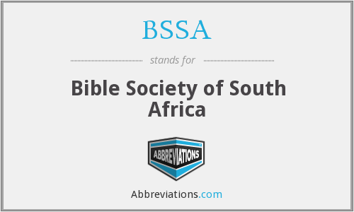 BSSA - Bible Society of South Africa