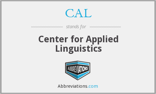 CAL - Center for Applied Linguistics