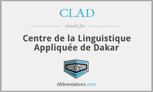 CLAD - Centre de la Linguistique Appliquée de Dakar