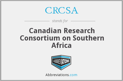 CRCSA - Canadian Research Consortium on Southern Africa