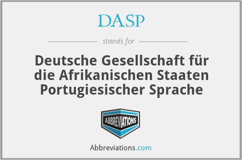 DASP - Deutsche Gesellschaft für die Afrikanischen Staaten Portugiesischer Sprache