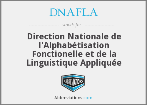What does DNAFLA stand for?