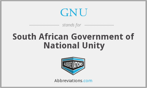 GNU - South African Government of National Unity