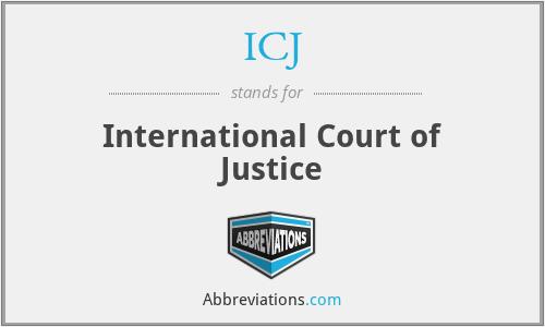 ICJ - International Court of Justice