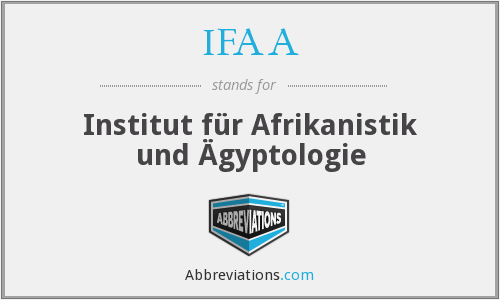 IFAA - Institut für Afrikanistik und Ägyptologie