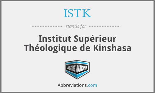 ISTK - Institut Supérieur Théologique de Kinshasa