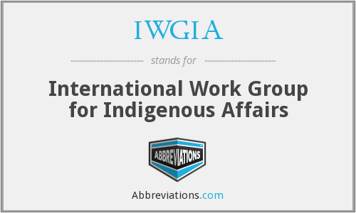 IWGIA - International Work Group for Indigenous Affairs