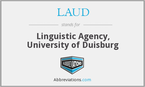 LAUD - Linguistic Agency, University of Duisburg