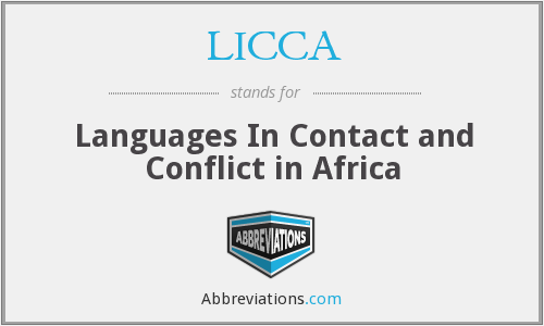 LICCA - Languages In Contact and Conflict in Africa