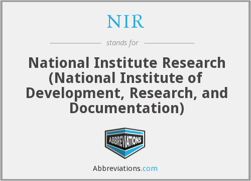 NIR - National Institute Research (National Institute of Development, Research, and Documentation)