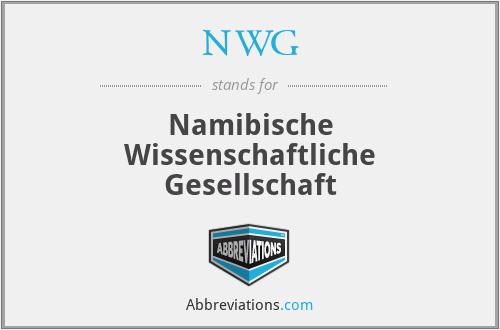 NWG - Namibische Wissenschaftliche Gesellschaft