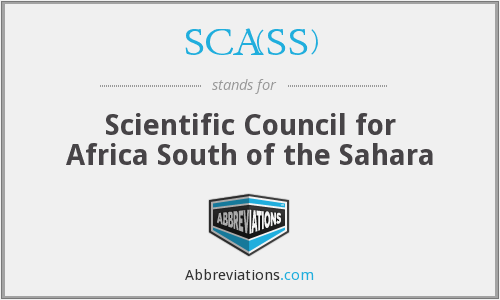 What does SCA(SS) stand for?