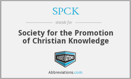 What does SPCK stand for?
