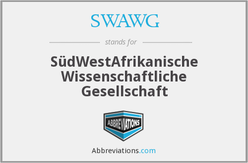What does SWAWG stand for?