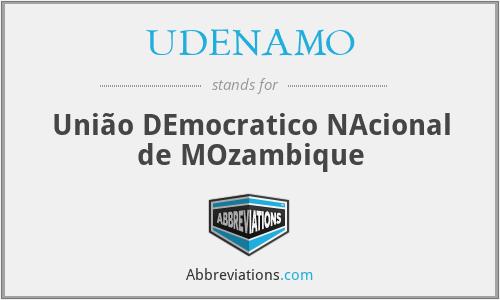 UDENAMO - União DEmocratico NAcional de MOzambique