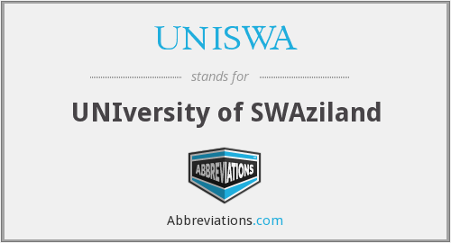 What does UNISWA stand for?