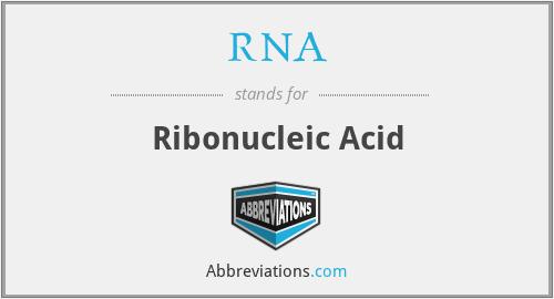 RNA - Ribonucleic Acid