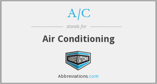 What does A/C stand for?