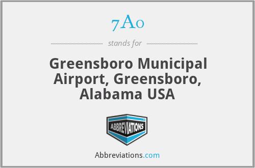 7A0 - Greensboro Municipal Airport, Greensboro, Alabama USA