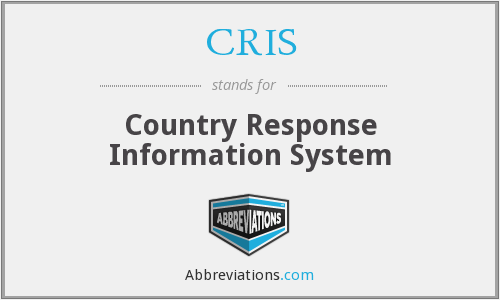 CRIS - Country Response Information System