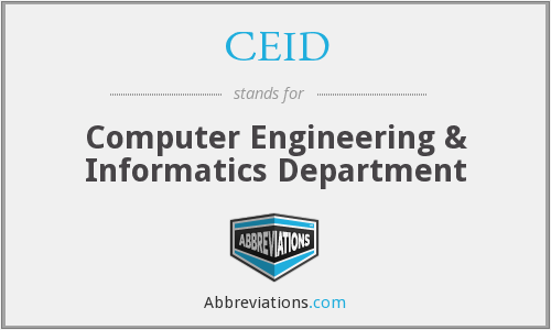 CEID - Computer Engineering & Informatics Department