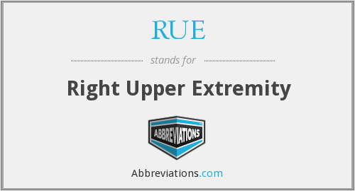 RUE - Right Upper Extremity