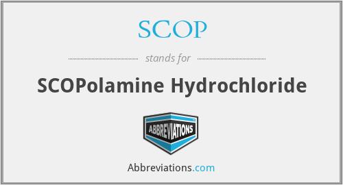 SCOP - SCOPolamine Hydrochloride