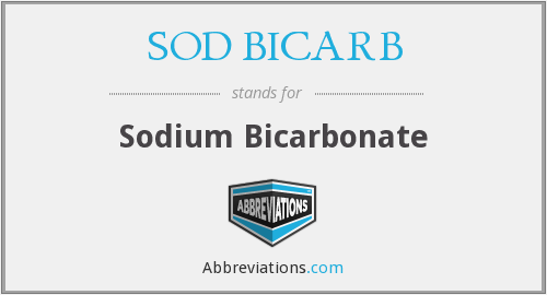 What Is The Abbreviation For Sodium Bicarbonate