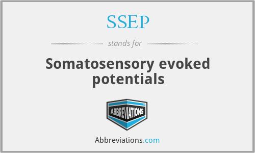 SSEP - Somatosensory evoked potentials