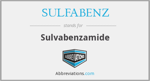 What does SULFABENZ stand for?
